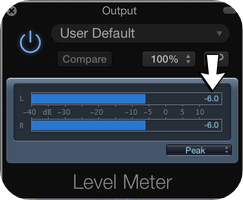 how to use a level meter in logic