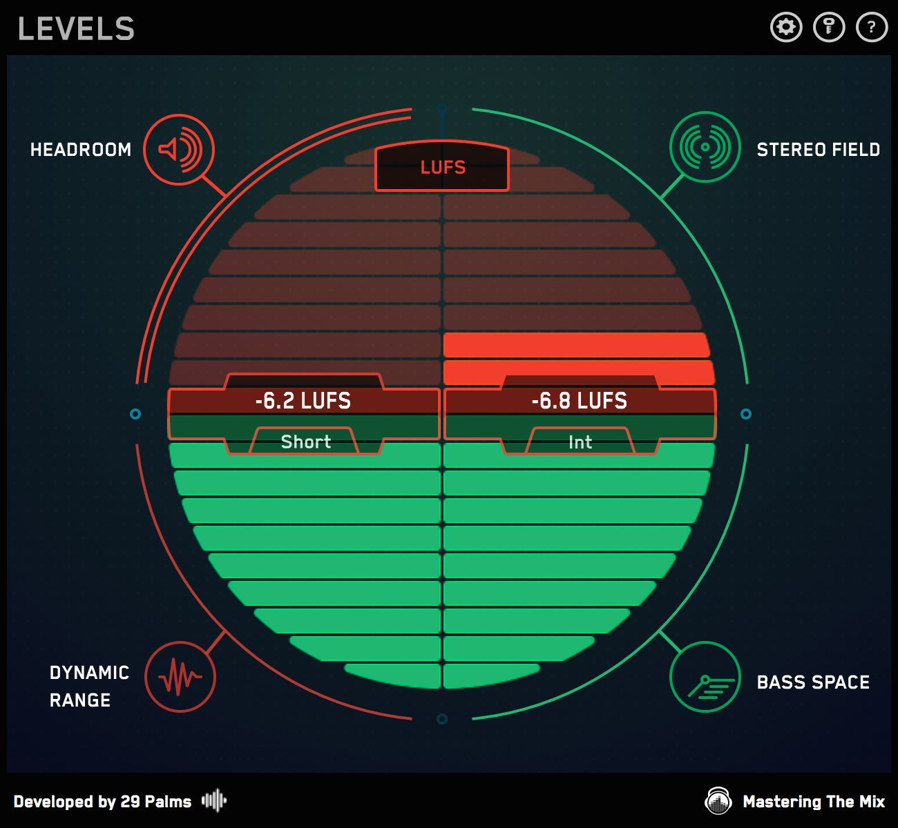 LEVELS mastering with LUFS