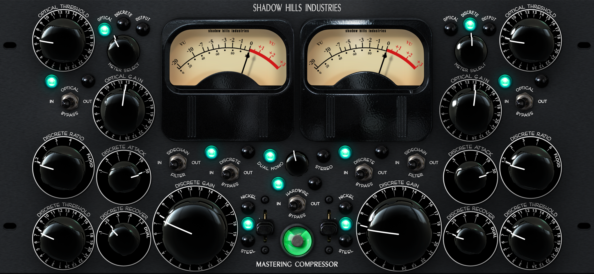 Shadow Hills Mastering compressor settings.