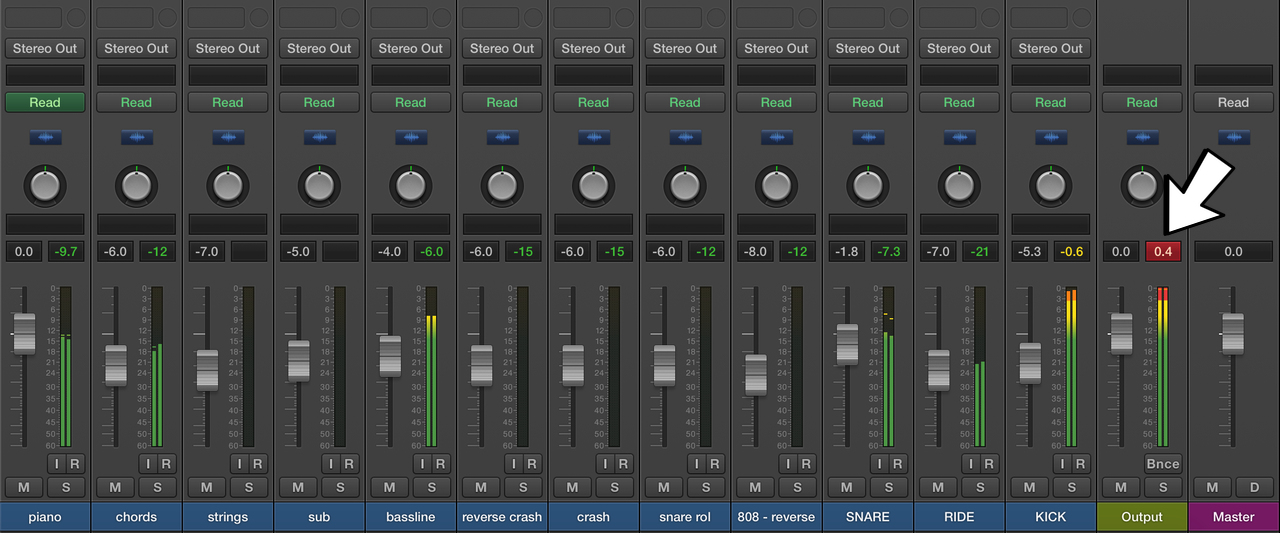 Logic Mixer. How to create perfect headroom in mixing