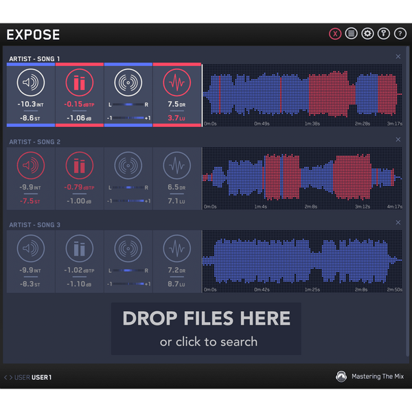 EXPOSE audio quality control application