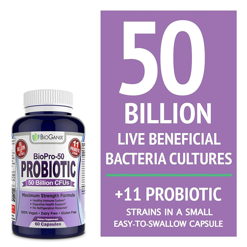 BioPro-50 Probiotic with 50 Billion CFUs