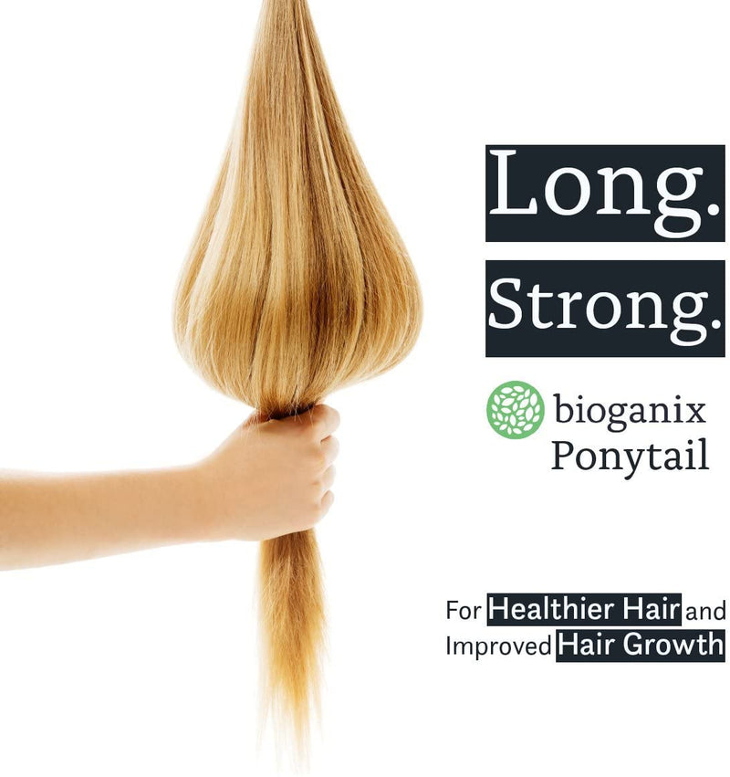 Bioganix Ponytail with Biotin, Vitamin B12, and Keratin Supplement for Hair Growth and Hair and Nail Health for All Hair Types