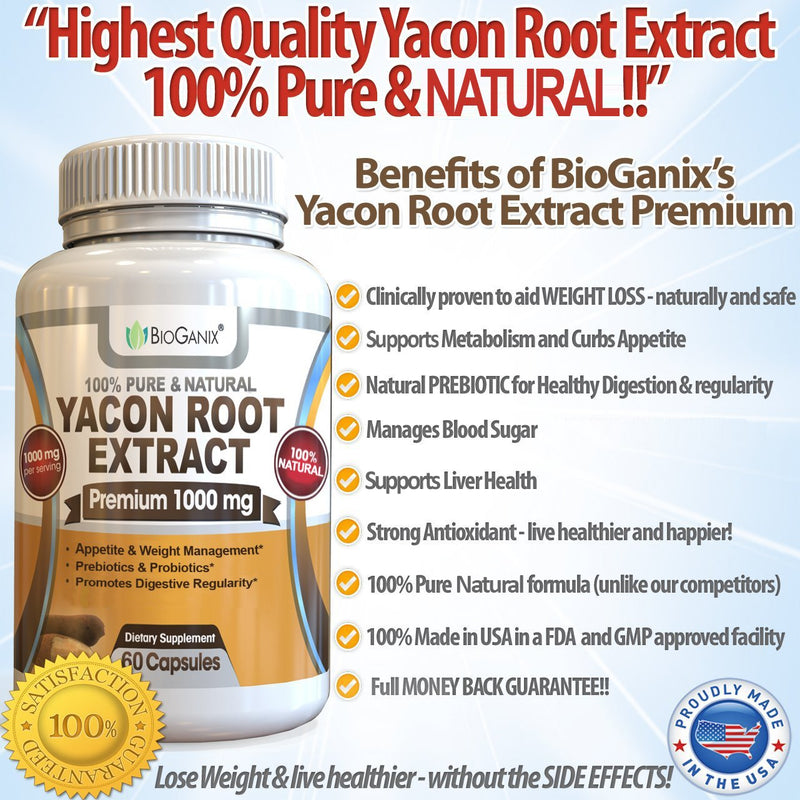 Yacon Root Syrup Extract - 1000mg (60 capsules)