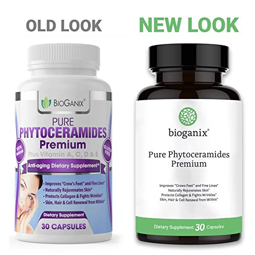 Pure Phytoceramides with Vitamin A, C, D & E (30 capsules)