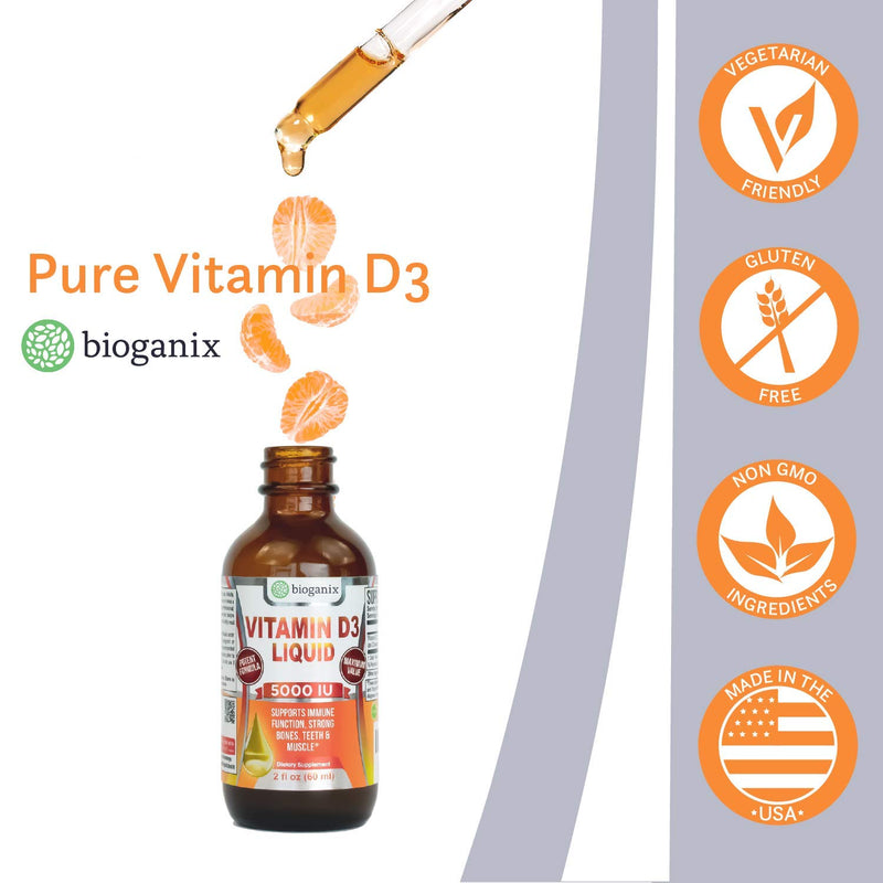 Vitamin D3 5000 IU Liquid Supplement (120 Servings)