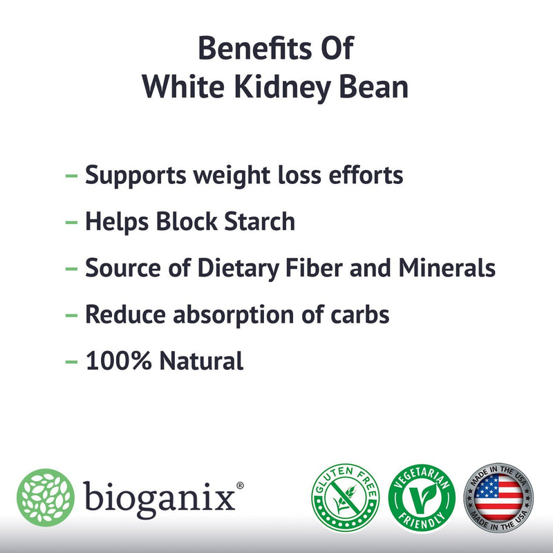 Pure White Kidney Bean Extract - 1800mg