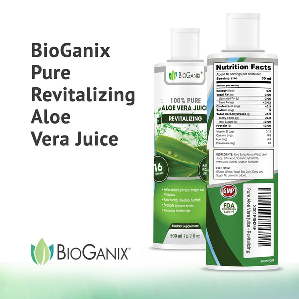 Revitalizing Pure Aloe Vera Juice - Bioganix