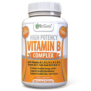 Vitamin B Complex 100 Supplement (50ct) - Bioganix
