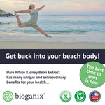 Pure White Kidney Bean Extract 1800mg (200ct, 60ct) - Bioganix