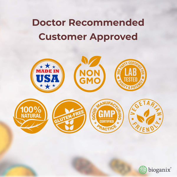 Bioganix - Turmeric Curcumin Supplement with BioPerine 1000mg (120 Capsules)