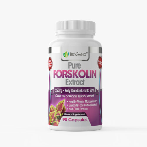 Pure Forskolin Extract 250mg Standardized to 20% (90ct) - Bioganix