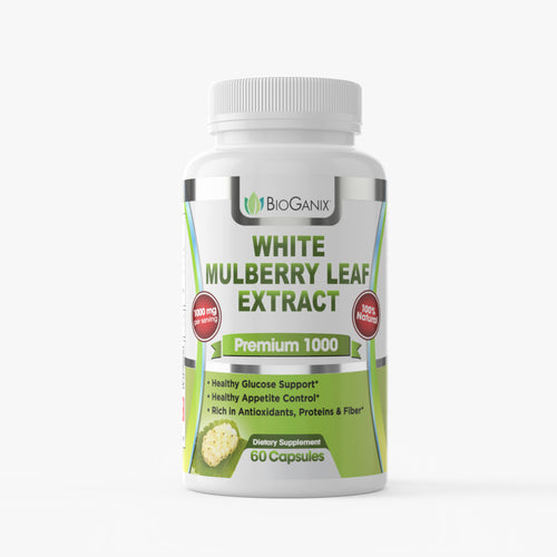 White Mulberry Leaf Extract 1000mg  (60ct) - Bioganix