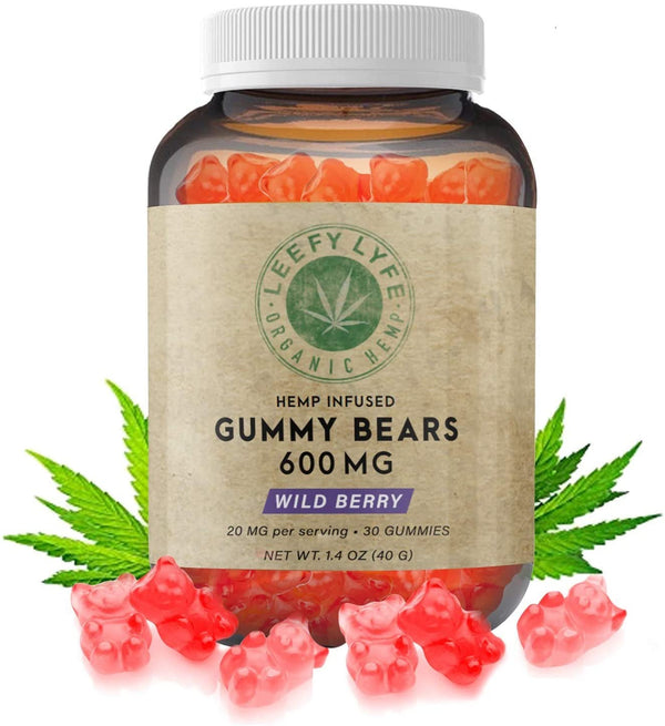 Leefy Lyfe Hemp-Infused Gummy Bears 600mg, 30 Count