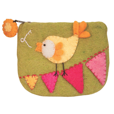 Felt Coin Purse - Canary - Wild Woolies (P)