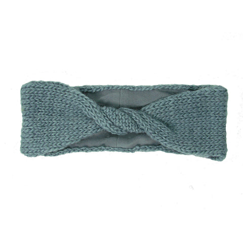 Lined Twisted Headband - Chambray - WorldFinds (W)