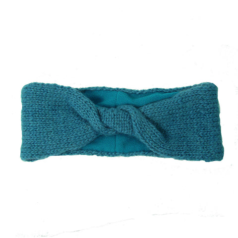 Lined Twist Headband - Teal - WorldFinds (W)