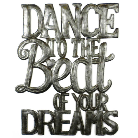 Dance to the Beat Metal Wall Art - Croix des Bouquets