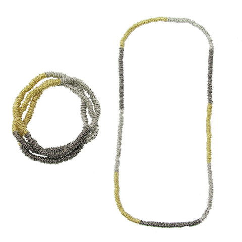 Metallic Stripe Necklace/Bracelet - WorldFinds