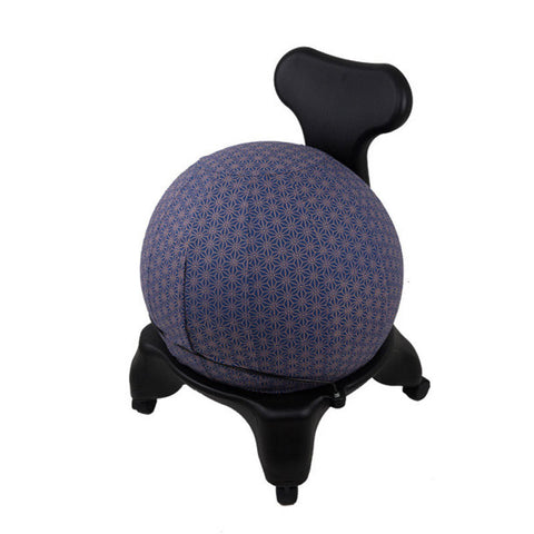 Yoga Ball Cover Size 65 Design Colbalt Geometric - Global Groove (Y)