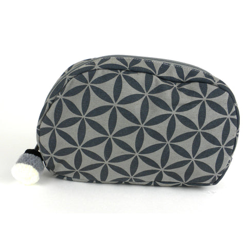 Flower of Life Makeup Bag Grey/Grey/Small - Global Groove (P)