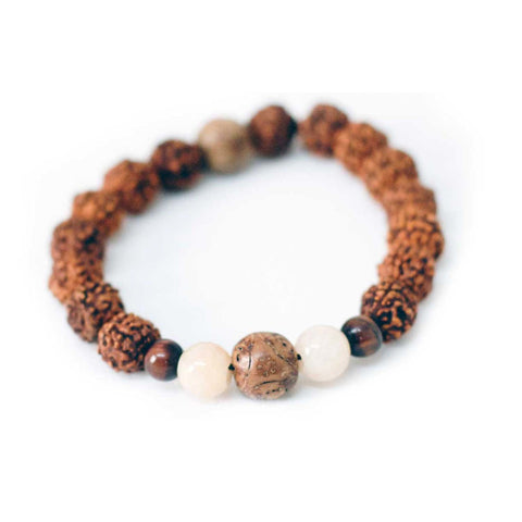 Rudra Tiger's Eye Wrist Mala Bracelet - Global Groove (J)