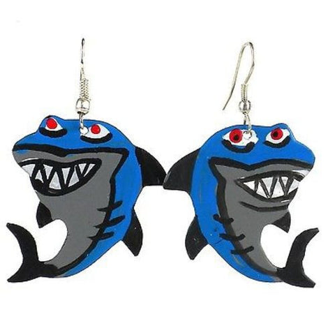 Painted Shark Earrings - Creative Alternatives