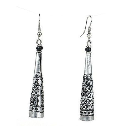 Stamped Recycled Cooking Pot 'Cone' Earrings - Zakali Creations