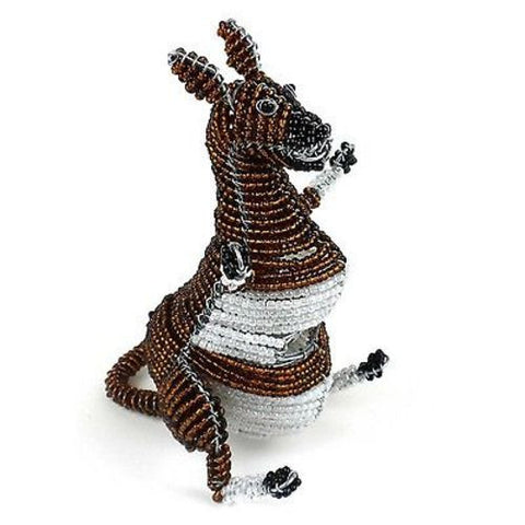 Handmade Small Beaded Kangaroo - South Africa