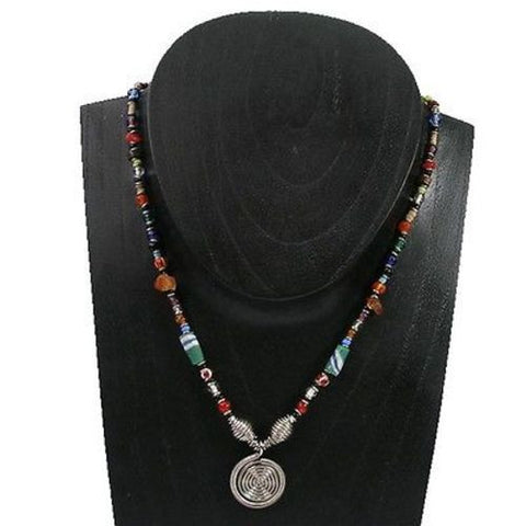 Single Spiral Multicolor Beaded 'Hope' Necklace - Zakali Creations
