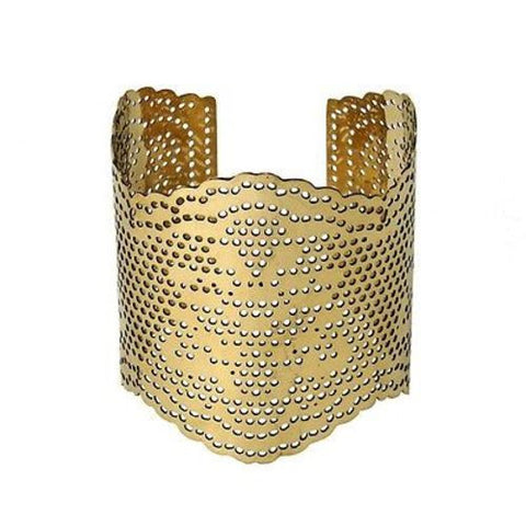 Lacey Brass Cutout Cuff - WorldFinds