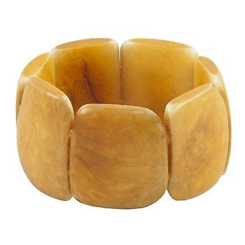 Polished Tagua Nut Bracelet in Incan Sun - Faire Collection