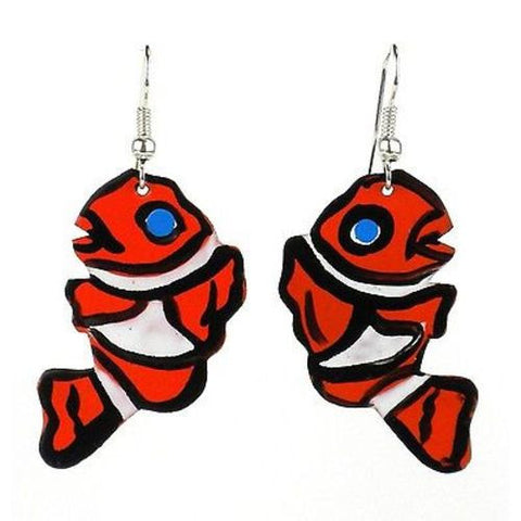 Painted Clown Fish Earrings - Creative Alternatives