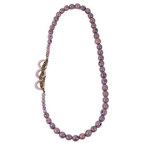 Circle Chain Necklace in Lavender - Faire Collection