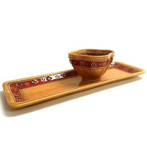 Handcrafted Ceramic Appetizer Set - Encantada