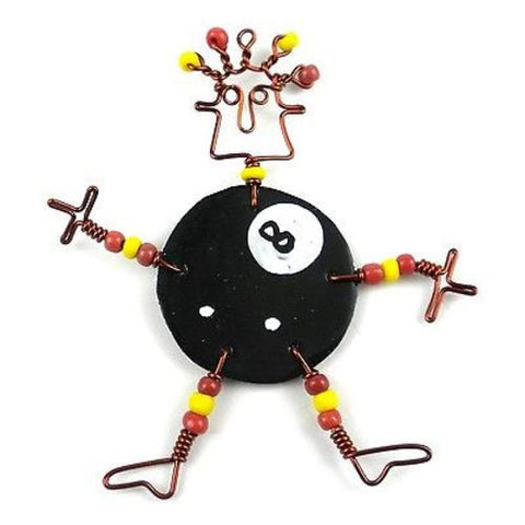 Dancing Girl Eight Ball Pin - Creative Alternatives