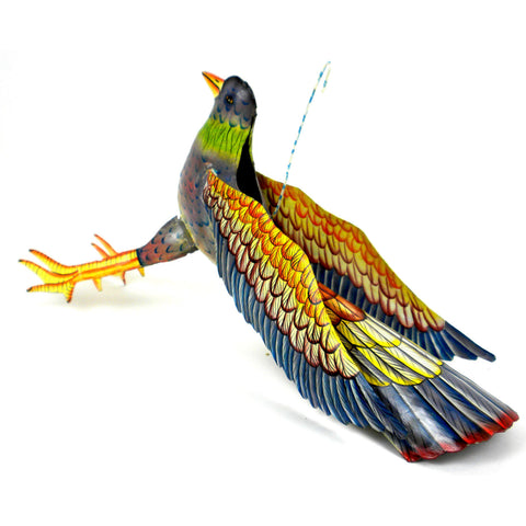 Large Painted Metal Hanging Bird - Croix des Bouquets (O)