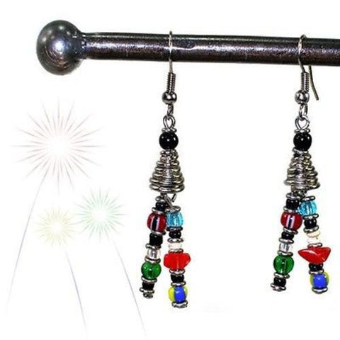 Vibrant Life Earrings Handmade and Fair Trade
