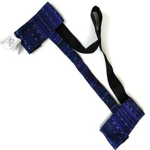 Hand Woven Sololá Yoga Mat Sling in Deep Purple - Maya Traditions (A)