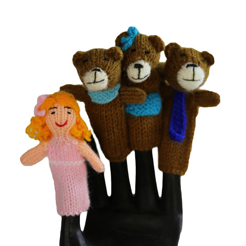 Goldilocks Finger Puppet Set of 4 - Global Handmade Hope