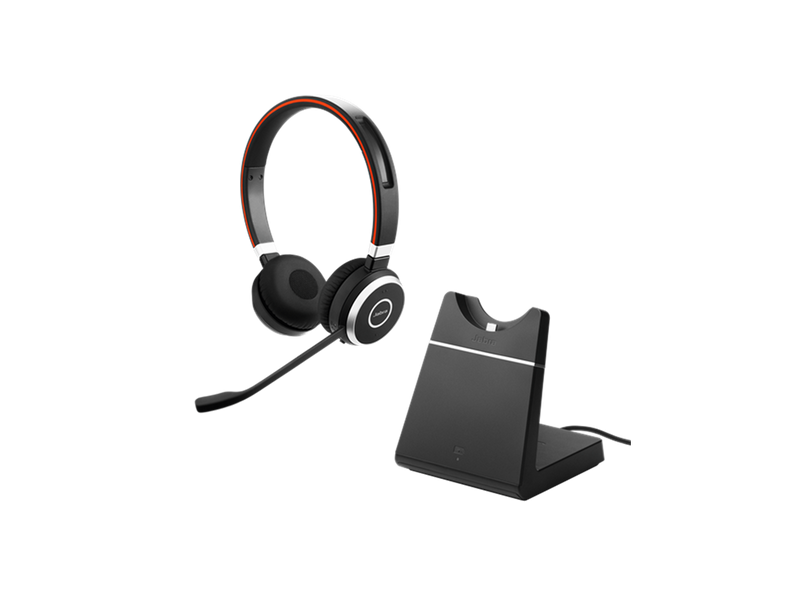 Jabra Evolve 65 MS DUO inkl. ladestation + Yealink BT 40 - Pakkeløsning
