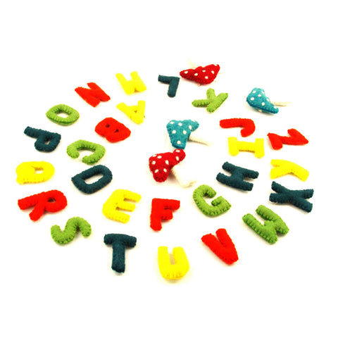 Felt Alphabet Wall Hanging - Bright - Global Groove
