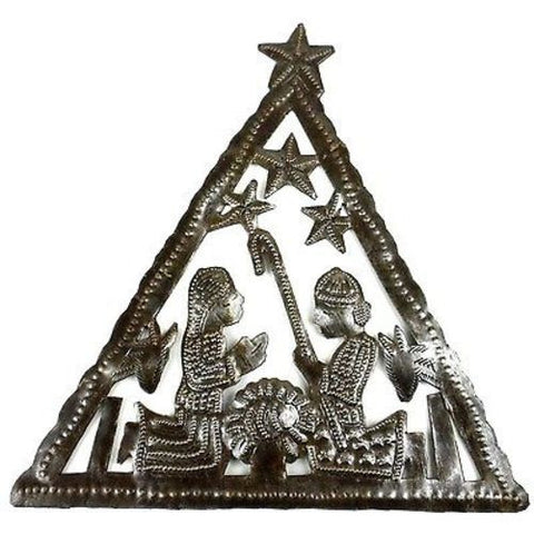 Triangle Nativity Wall Art - Croix des Bouquets (H)