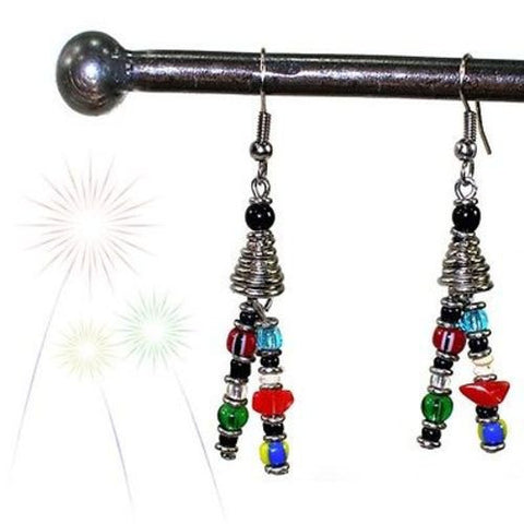 Vibrant Life Earrings - Zakali Creations