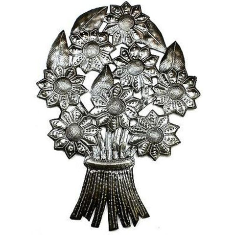 Bouquet of Flowers Metal Wall Art - Croix des Bouquets