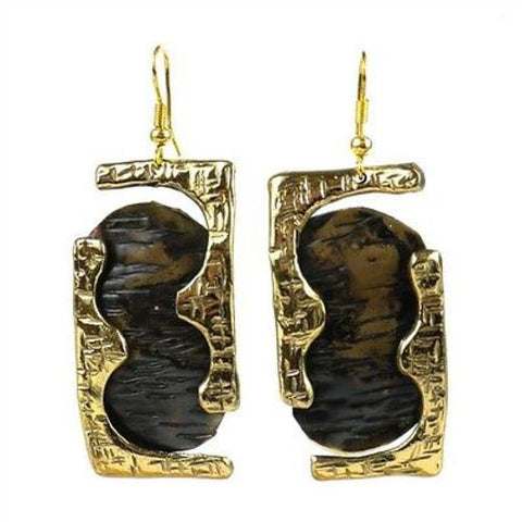 Road Less Traveled Brass Earrings - Brass Images (E)