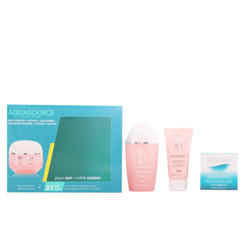 AQUASOURCE CREME PS LOTE 3PZ. AQUASOURCE CREMA PS 50 ML + BIOSOURCE NETTOYANT PS 50 ML + BIOSOURCE LOTION PS 100 ML.