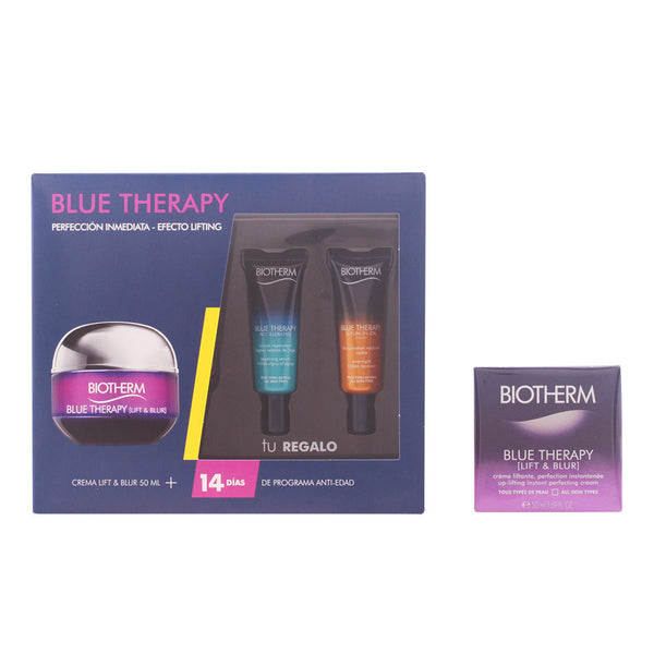 Cosmetica Biotherm. BLUE THERAPY BLUR LOT 3PZ. CREAM PERFECTION IMMEDIATE EFFECT LIFTING ALL TYPES OF SKIN 50 ml + S RUM REPAIRER 10 ml + S RUM IN OIL NIGHT 10 ml.