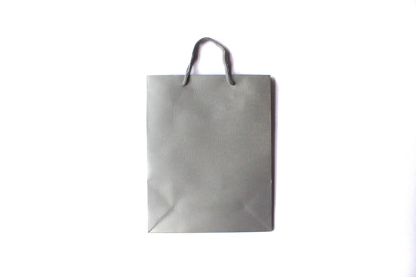 Faint Wrinkle Paper Bag w. Fabric Handle