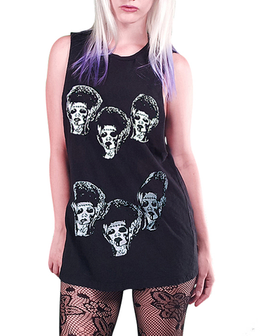 bride of frankenstein oversize shirt goth horror
